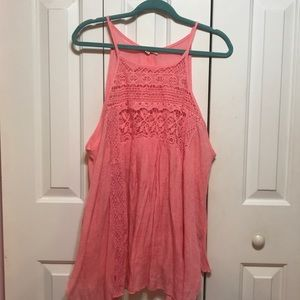 Plus Size Pink Lace Top NWOT